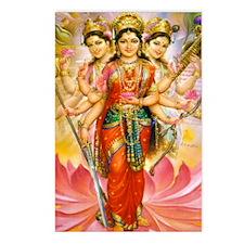 Tridevi_Hindu_Three_Godde Postcards (Package of 8)
