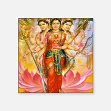 "Tridevi_Hindu_Three_Goddess Square Sticker 3"" x 3"""