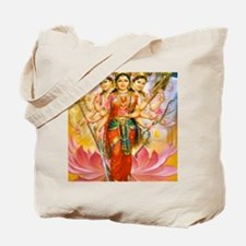 Tridevi_Hindu_Three_Goddesses_Stadium_Bla Tote Bag