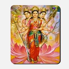 Tridevi_Hindu_Three_Goddesses_Stadium_Bl Mousepad