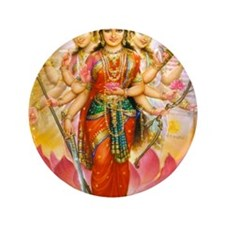 "Tridevi_Hindu_Three_Goddesses_Stadium_ 3.5"" Button"