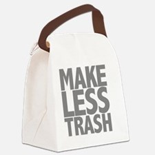 Make Less Trash.Gray Canvas Lunch Bag