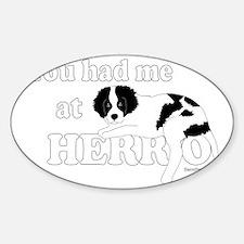 HerroPuppy Sticker (Oval)