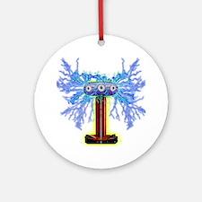 TESLACOIL Round Ornament