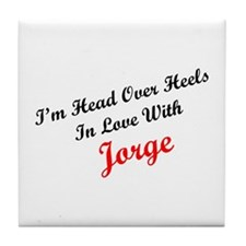 In Love with Jorge Tile Coaster