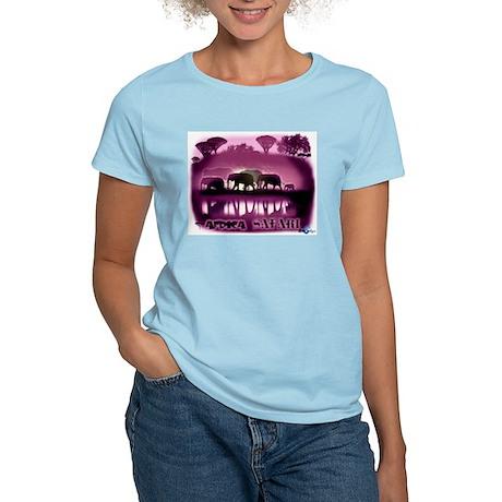 Africa Elephant Safari Pink Shirt