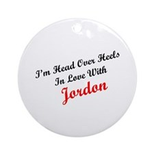 In Love with Jordon Ornament (Round)