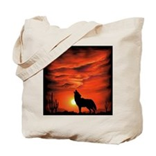 Coyote Howling Tote Bag