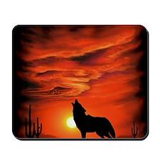 Coyote Howling Mousepad