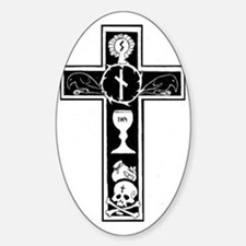 Totenkreuz Sticker (Oval)