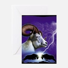 Rams and Lightning Greeting Card