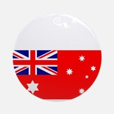 Flag_of_Australia_1901-1903_RED-DAR Round Ornament