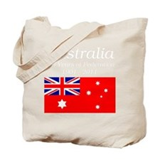 Flag_of_Australia_1901-1903_RED-DARK Tote Bag