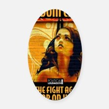 WAR WOMEN FREEDOM CAFE Oval Car Magnet