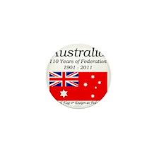 Flag_of_Australia_1901-1903_RED-LIGHT Mini Button