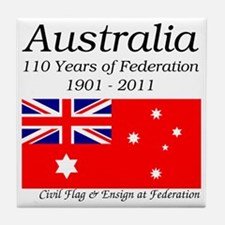 Flag_of_Australia_1901-1903_RED-LIGHT Tile Coaster
