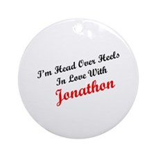In Love with Jonathon Ornament (Round)