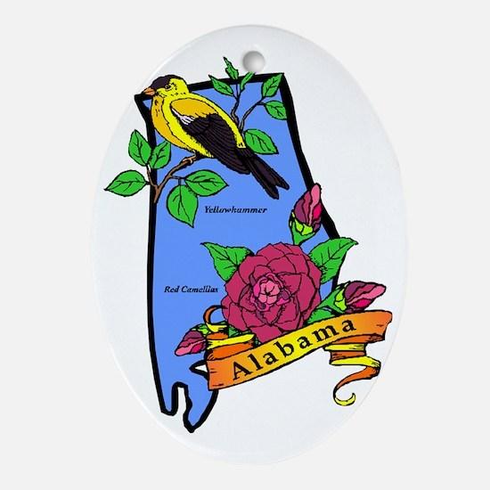 Alabama Oval Ornament