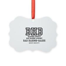 AIRPORT CODES - BHB - BAR HARBOR, Ornament
