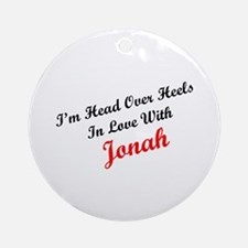 In Love with Jonah Ornament (Round)