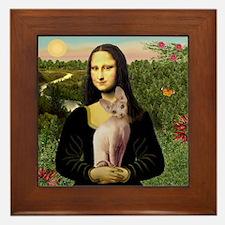Sphynx Cat & Mona Lisa Framed Tile