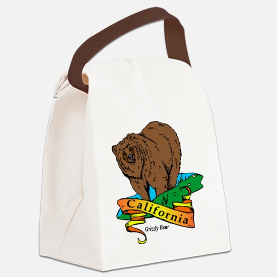 California (5) Canvas Lunch Bag