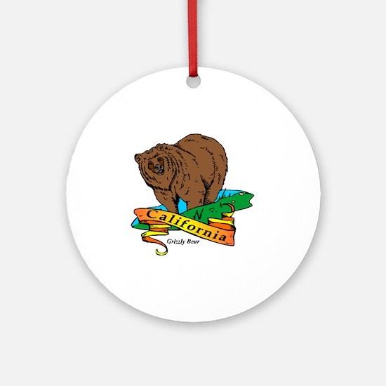 California (5) Round Ornament