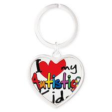 ILove-My-Autistic-Kids Heart Keychain