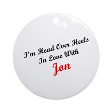 In Love with Jon Ornament (Round)