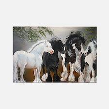 Stallions Rectangle Magnet