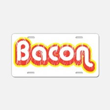 Bacon retro Aluminum License Plate