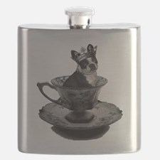 bostonterrier-teacup Flask