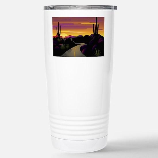 SWSunsetHwy_62x52 Stainless Steel Travel Mug