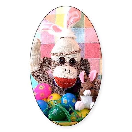 Easter Basket Sticker (Oval)