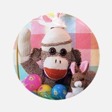 Easter Basket Round Ornament