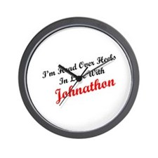 In Love with Johnathon Wall Clock
