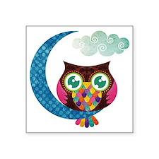 "owl-moon2 Square Sticker 3"" x 3"""
