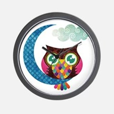 owl-moon2 Wall Clock