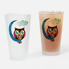 owl-moon2 Drinking Glass