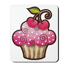 cupcake_cherry_tee Mousepad