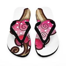 cupcake_cherry_tee Flip Flops