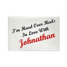 In Love with Johnathan Rectangle Magnet