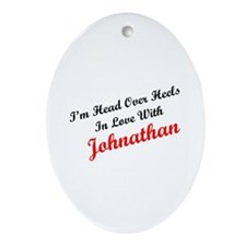 In Love with Johnathan Oval Ornament