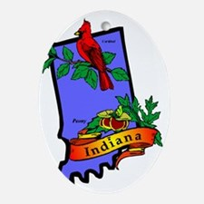 Indiana Oval Ornament