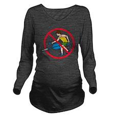 Jarts Black Monday s Long Sleeve Maternity T-Shirt