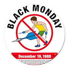 Jarts Black Monday big Round Car Magnet