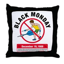 Jarts Black Monday big Throw Pillow
