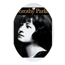 Dorothy Parker1 Oval Ornament