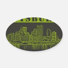 dystopia_green_shirt Oval Car Magnet