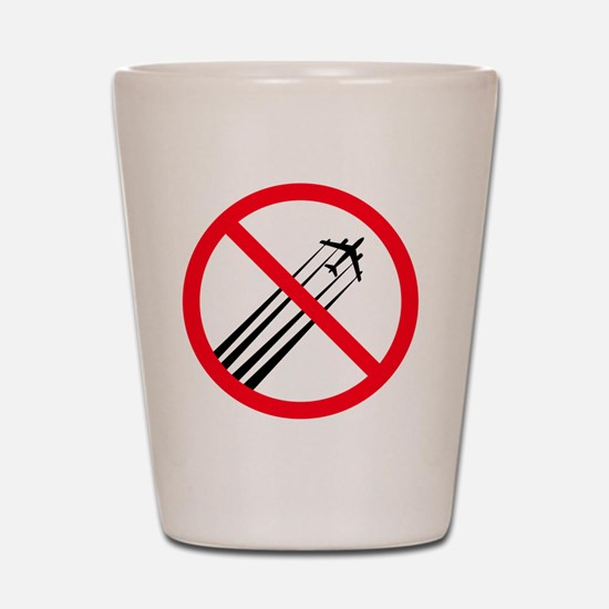 STOP CHEMTRAILS Shot Glass